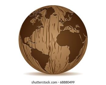 (raster image of vector) world map