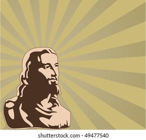 the raster jesus (vector version in portfolio)