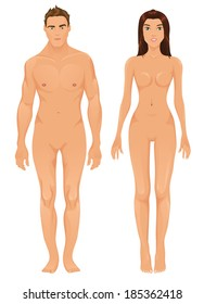 Raster male and female models
