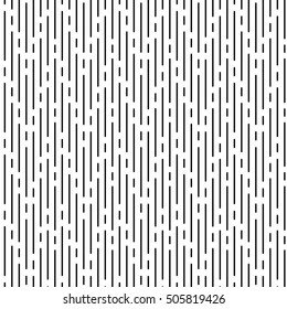 Raster monochrome seamless pattern, black irregular rounded lines on white background. Abstract endless texture for banner, website, print, decoration, cover, wrapping. Modern stylish repeat design