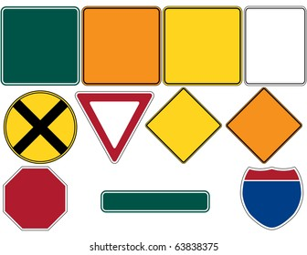 Raster Road Signs Set 1