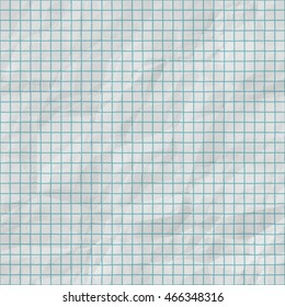 Raster Seamless Grid Lines On Folded Paper. . Realistic Texture Rendering