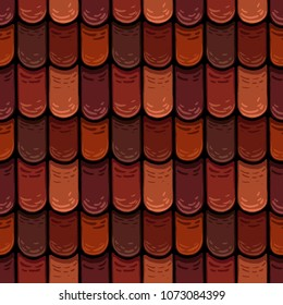 raster seamless texture of the roof cover, roof tiles