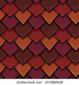 raster seamless texture of the roof cover, tile of rhombuses