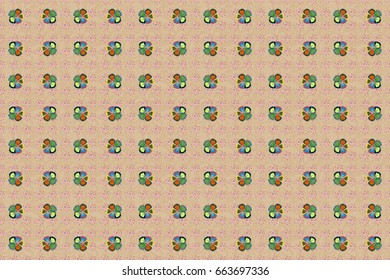Raster simple cute seamless pattern in small-scale flowers. Liberty style in blue, red and green colors. Floral seamless background for textile or book covers, gift wrap and scrapbooking. Millefleurs.