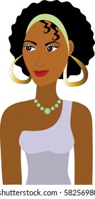 Raster version of Afro Girl Avatar. See others in this series.