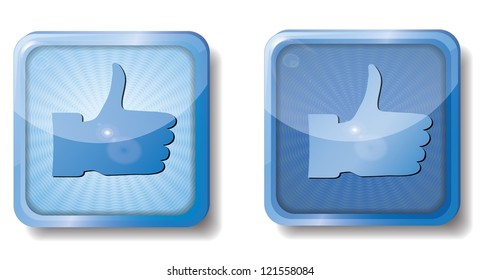 raster version of blue radial thumb up