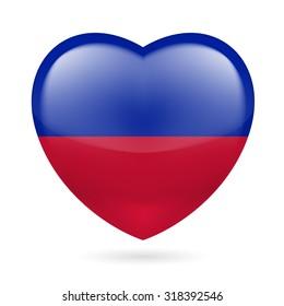 Raster version. Heart with Haitian flag colors. I love Haiti