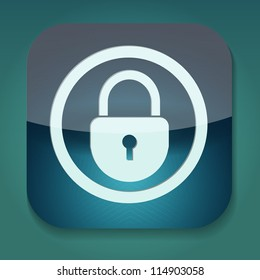 a raster version of icon with lock inside