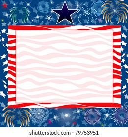 Raster version Illustration for the 4th of July Independence background.