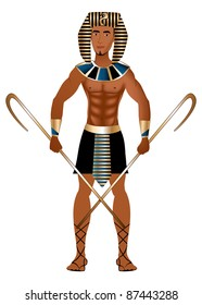 Raster version Illustration of a man dressed in Egyptian Carnival Halloween Costume.