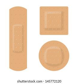 Raster version. Medical plaster. Illustration on white background for design