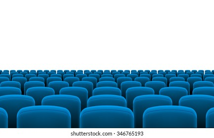 Raster version. Rows of Cinema or Theater Blue Seats