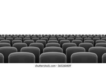 Raster version. Rows of Cinema or Theater Black Seats