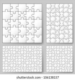 Raster version. Various sizes puzzle. Illustration for design