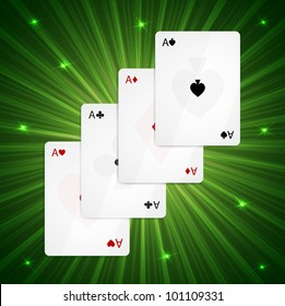 Raster version of vector four aces