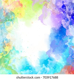 Raster watercolor colorful background. Illustration for use in a variety of designs.