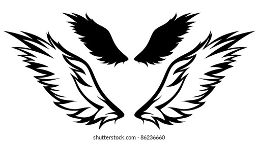 raster - wings illustration (vector version is available in my portfolio)