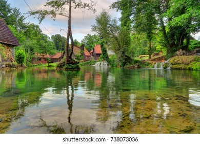 Rastoke is the historic center of the Croatian municipality of Slunj, known for the Slunj�ica river, which flows into the river Korana at Rastoke