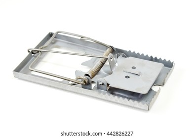rat trap isolated on white background