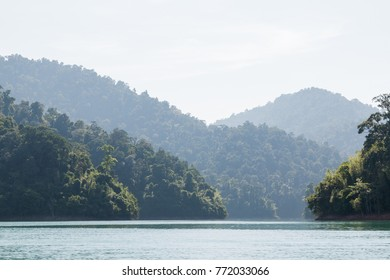 Ratchaprapa Dam or Cheow Larn Lake, Khao Sok national parks is one of the most beautiful locations in Thailand