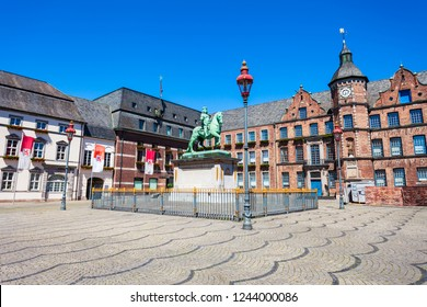 Rathaus or old town hall is located at the market square in aldstadt old town of Dusseldorf in Germany