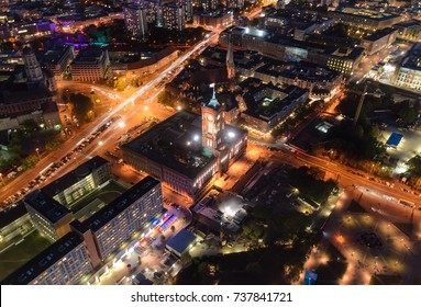 Rathaus, townhall in Berlin Germany, up view.