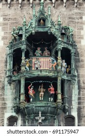 Rathaus-Glockenspiel on the New Town Hall building in the Marienplatz Square of Munich, Germany