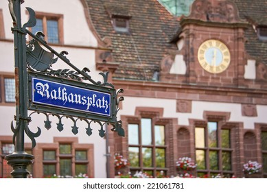 Rathausplatz (Town hall square), Freiburg im Breisgau, Germany
