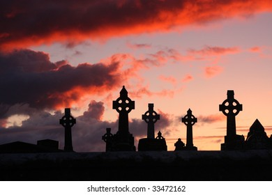 Rathmoyle cemetary in county roscommon near castlerea, Ireland