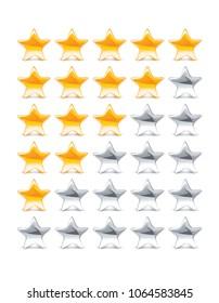 Rating Stars. 3d illustration
