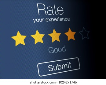 Rating stars on a high resolution LCD screen.