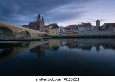 Ratisbona/ Regensburg in Bavaria, Germany.