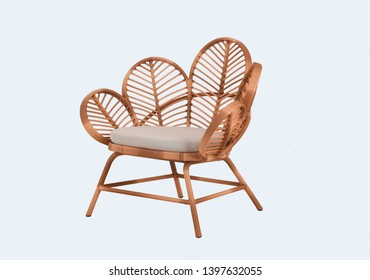 Rattan Chair On a white background
