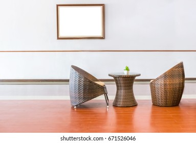 Rattan chair for reception