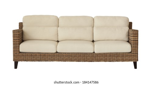 Cool Rattan Sofa Isolated Images Stock Photos Vectors Squirreltailoven Fun Painted Chair Ideas Images Squirreltailovenorg
