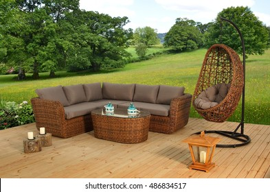 Rattan Sofa Group