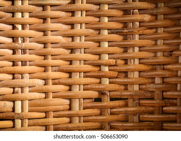 Rattan texture.Rattan woven pattern of an old chair.Cane furniture background.