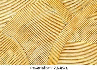 Rattan wall Decorate background