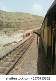 Rattle track along with rattling train going to Quetta and a lovely view point which has attractive mountain piece.