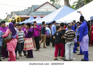 Raub,Pahang , Malaysia 20th July 2017 - The open house has become a habit of the people in malaysia when the feast. It's a way of celebrating and welcoming guests with a variety of traditional dishes.