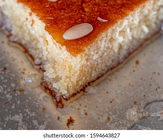 """""""ravani"""" traditional midle east sweet semolina  Christmas cake with honey syrup and nuts"""