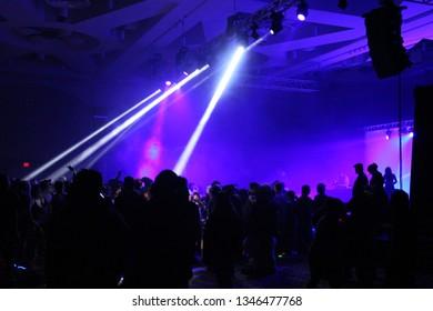 rave ecm light nightclub