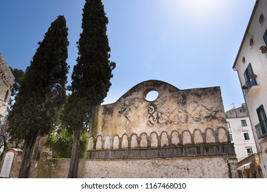 Ravello Campania Italy 05 April 2018.Ravello is high above the Amalfi Coast.It is a beautiful hill town with fantastic views over the coastline. Wagner wrote some of his operas staying at Villa Rufolo