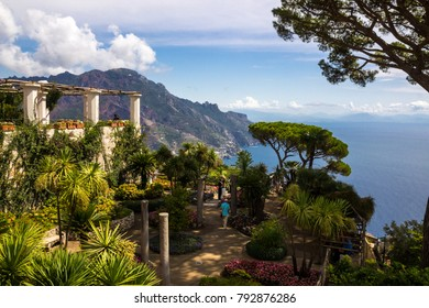 Ravello on Amalfi coast in Campania in Italy