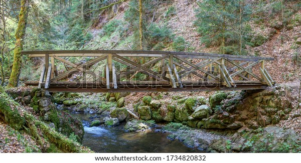 The Ravenna Gorge in the Black Forest is a narrow and steep side valley of the Höllen Valley, through which the Ravenna mountain stream flows over many cascades and waterfalls.
