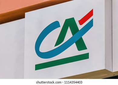 RAVENNA, ITALY - JUNE 10, 2018: The French banking group Credit Agricole has completed the acquisition of the three Italian banks, Casse di Rimini, Cesena e San Miniato