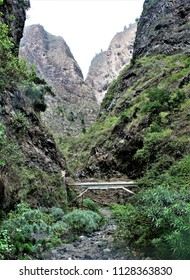 the ravine of Badajoz in Tenerife, deep and narrow valley, mountain range, water mines, peace, calm, serenity, harmony, fullness, well-being, nature, natural, contemplate, meditate, breathe, grow,