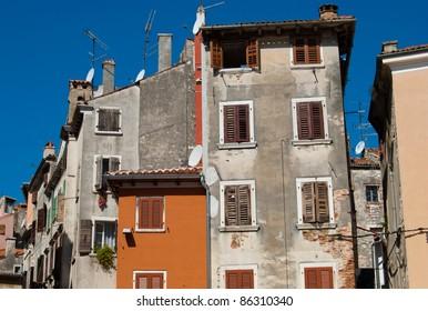Ravinj old town houses, Croatia