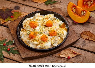 ravioli with pumpkin